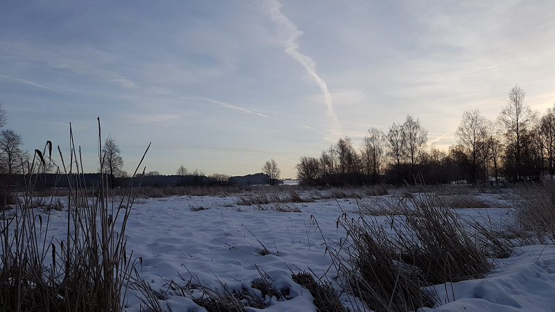 Winterlandschaft in Obing